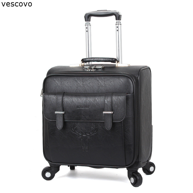vescovo 18inch business travel suitcase men carry on rolling luggage spinner on wheels women boarding trolley bag