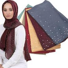 S32 40pcs di Alta qualità del diamante chiffon dello scialle del hijab sciarpa/s scolpisce dellinvolucro della fascia delle donne lungo maxi può scegliere colori