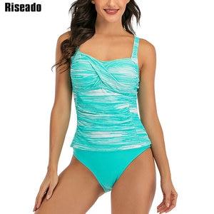 Image 4 - Женский раздельный купальник Riseado, купальник из двух частей, с пуш ап эффектом, танкини 2020, летняя пляжная одежда, сексуальные купальные костюмы с рюшами