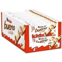 Kinder good White, box of 10 packs of 3 units of 2 bars 43 gr.