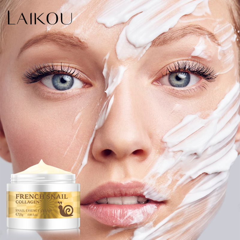 Snail Face Cream Hyaluronic Acid Anti-Wrinkle Anti-aging Facial Day Cream Collagen Moisturizer Nourishing Tight Skin Serum Care image