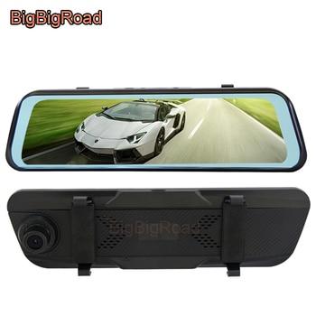 Bigbigroad DVR para automóvil Dash Cámara Cam corriente espejo retrovisor IPS pantalla para Renault captur Kangoo de Kaptur Sandero deporte RS de Triber