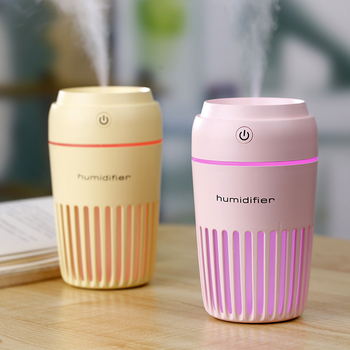 300ml Cartoon Cup Ultrasonic Aroma Diffuser USB Air Humidifier Car Mist Maker with LED Lights Mini Office Air Purifier