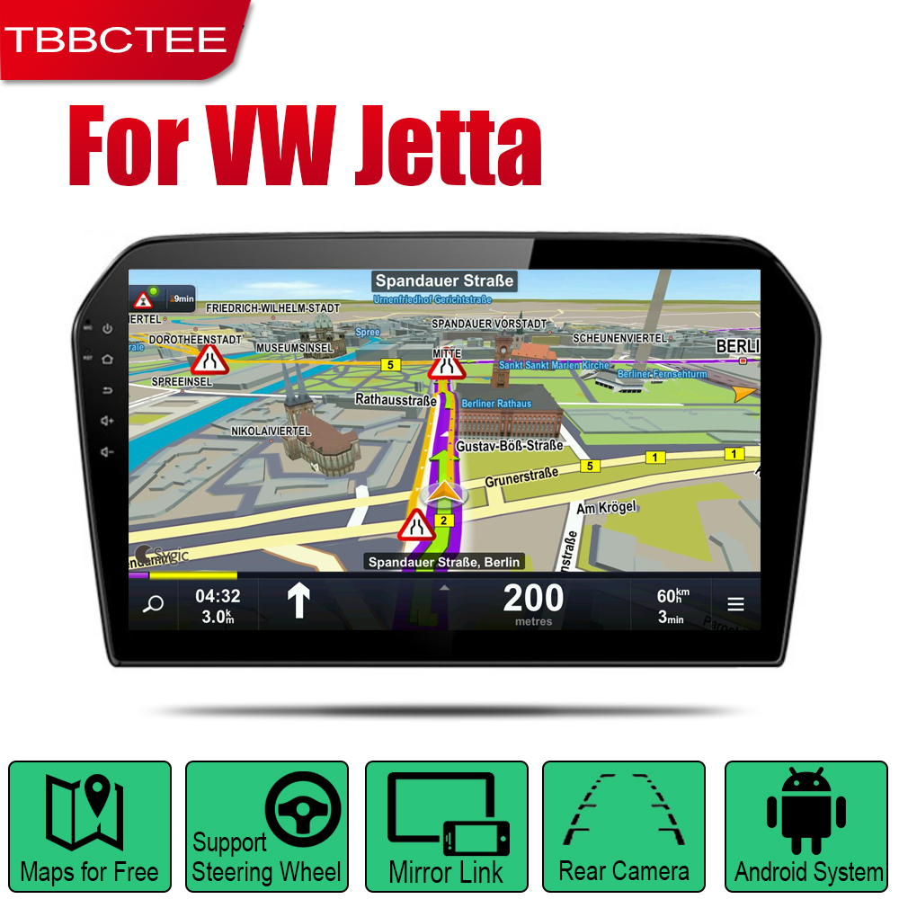 Android 2 Din Auto Radio For Volkswagen <font><b>VW</b></font> <font><b>Jetta</b></font> 2013 2014 <font><b>2015</b></font> 2016 2017 2018 Car Multimedia Player GPS Navigation WIFI BT image