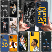 Phone-Case Curry-30 for 4 4s Black Funda Fashion Basketball Stephen 6S 5S 5C XR 11-Pro