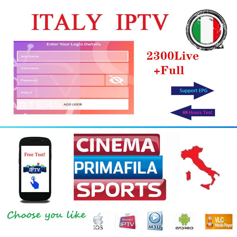 IPTV Italy M3U Subscription 1 Year With Adults Channels Italian Sports Skyi Support Iptv Smarters Android Enigma2 Smart Tv Box