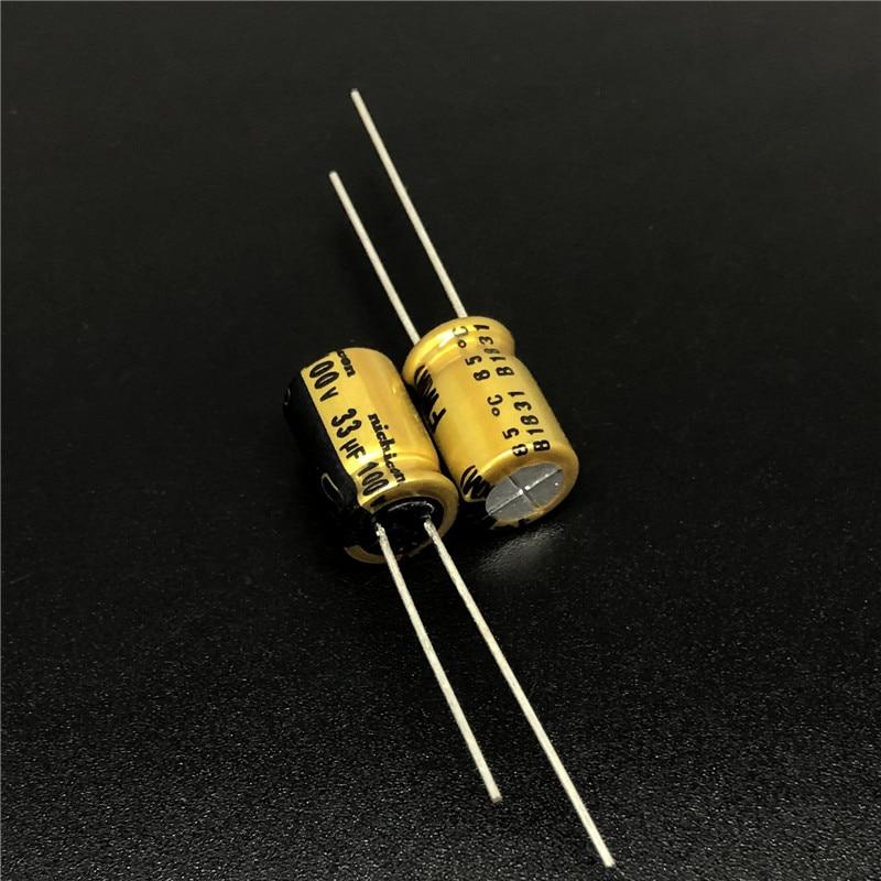 5pcs/50pcs 33uF 100V NICHICON FW  8x11.5mm 100V33uF Top Grade Audio Capacitor