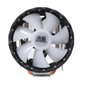 SNOWMAN CPU Cooler, Three-Pin Mute Fan with Light, Down-Blowing Down-Press Desktop CPU Cooling Fan, Support /ADM image