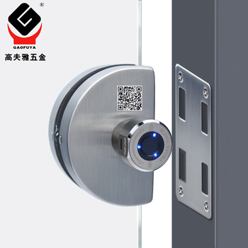 Smart Fingerprint Door Lock Glass Door Lock Electronic Lock Bluetooth APP Control Biometric Lock Home Office oklar electronic door lock biometric fingerprint lock zinc alloy smart knob deadbolt keyless indoor lock for home hotel office