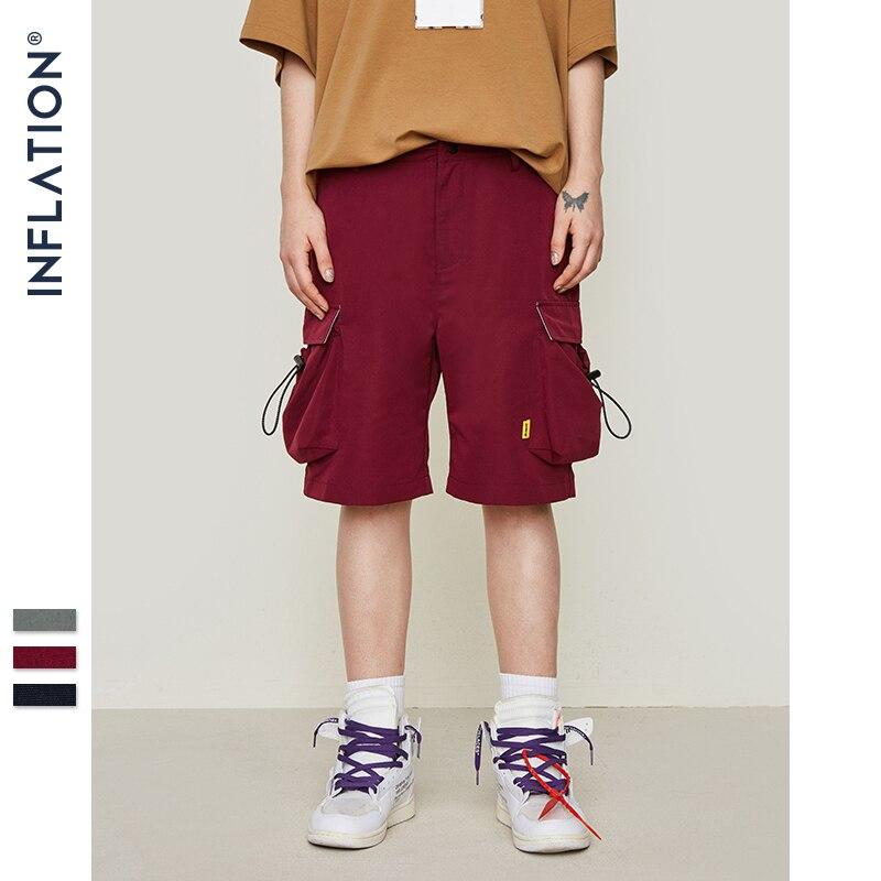 Men's Large Side Pocket Casual Shorts Mens Hip Hop Sportswear Shorts Men Fashion Tactical Shorts 9313S