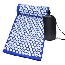 Tapis dacupression chaud pour Yoga, matelas avec picots et oreiller de Massage, soulage les douleurs de dos, Acupuncture, 26*17 pouces