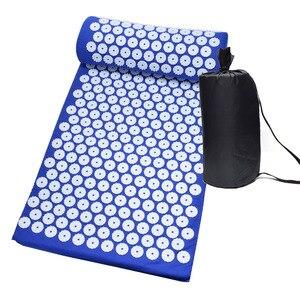 Image 1 - Tapis dacupression chaud pour Yoga, matelas avec picots et oreiller de Massage, soulage les douleurs de dos, Acupuncture, 26*17 pouces