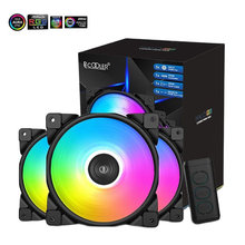 Pccooler 3/paketi HALO RGB Fan 12CM 12V & 5V FRGB 3Pin ve 4Pin PWM sessiz soğutma fanı RGB kasa fanı masaüstü bilgisayar ev sahibi Fan