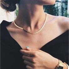 Collier ras du cou minimaliste, 4MM, chaîne de serpent, bijoux de Couple en or pour hommes et femmes, 2021
