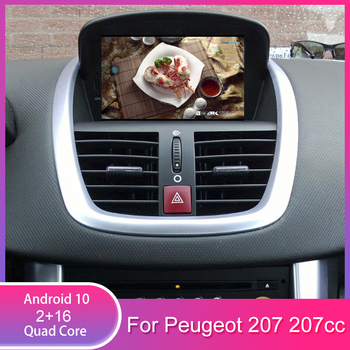 Android 10 Car dvd player for Peugeot 207 2007-2014 GPS Navigation Radio stereo Bluetooth USB multimedia free gps map