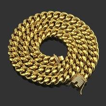 Men's Necklace Vintage Diamonds Cuban Chain Hip Hop Personality Neck Chain Luxury Jewelry Gothic Accessories Wholesale2021