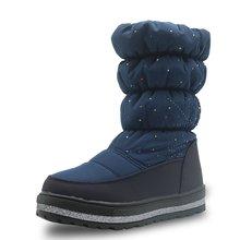 Модные водонепроницаемые зимние ботинки apakowa со стразами