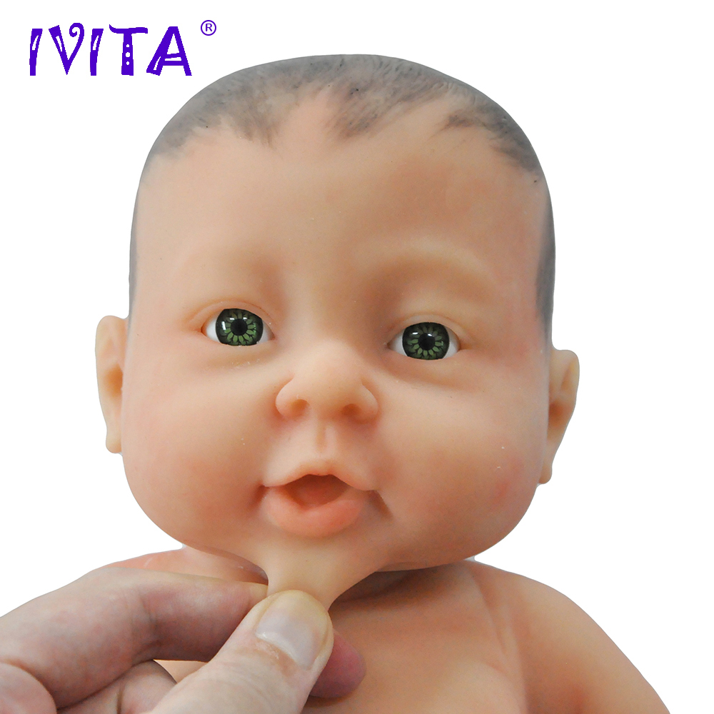 IVITA WG1503H 41cm 2000g Full Body Silicone Reborn Baby Girl With Painted Hair Realistic Preemie LifeLike Skin Soft Dolls Babies