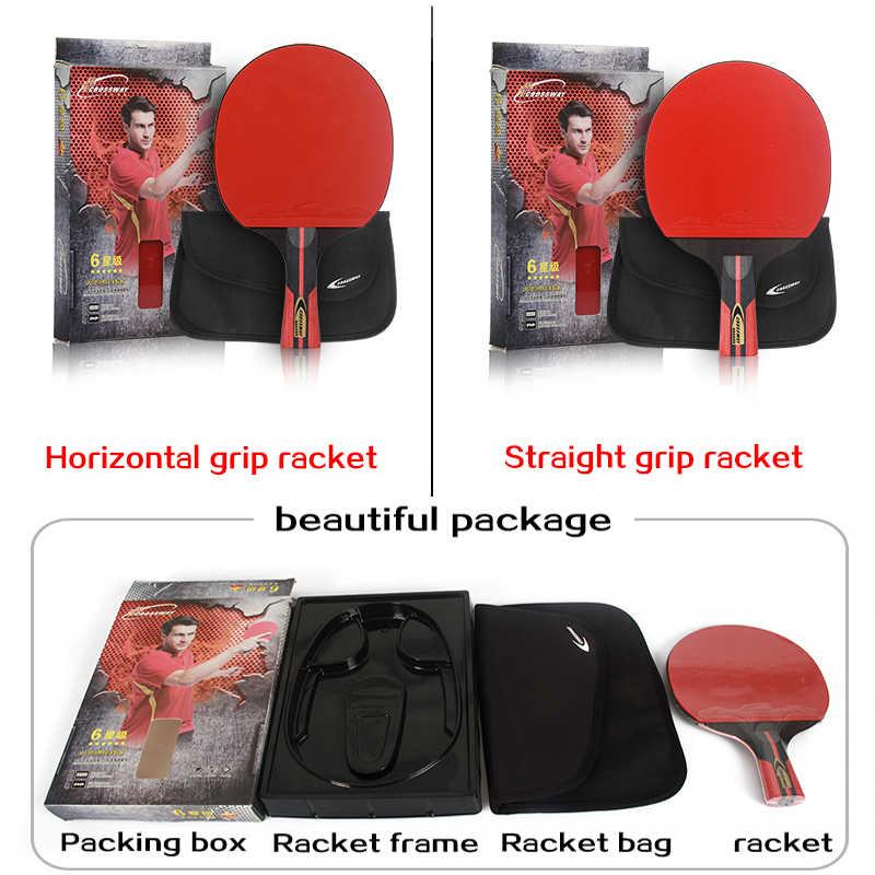 Raqueta de tenis de mesa profesional CROSSWAY, raqueta individual de 6 estrellas con raqueta de alta Bolsa De Calidad, raqueta deportiva, raqueta de Ping Pong, raquetas de goma