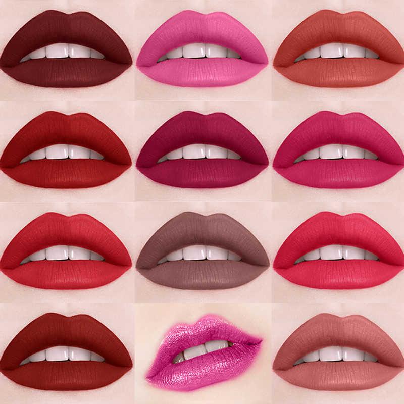 Matte Lip Gloss Lunga Durata Idratante Impermeabile Sexy 12 Liquido di Colore del Rossetto Impermeabile Rossetto di Trucco TSLM1
