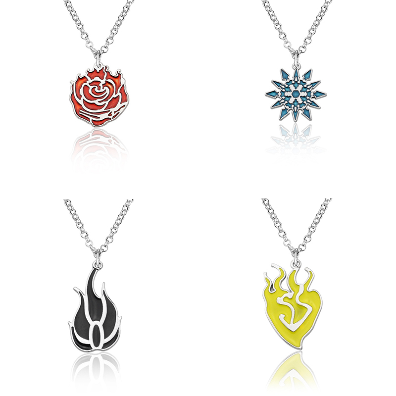 RWBY Cosplay Necklace Costume Accessories Ruby Rose Weiss Schnee Blake Belladonna Yang Xiao Long