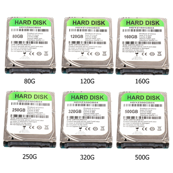 2.5 inch SATA III 5400 RPM Hard Drive with 80GB 120GB 160GB 250GB 320GB 500GB Internal HDD for Laptop PC Computer