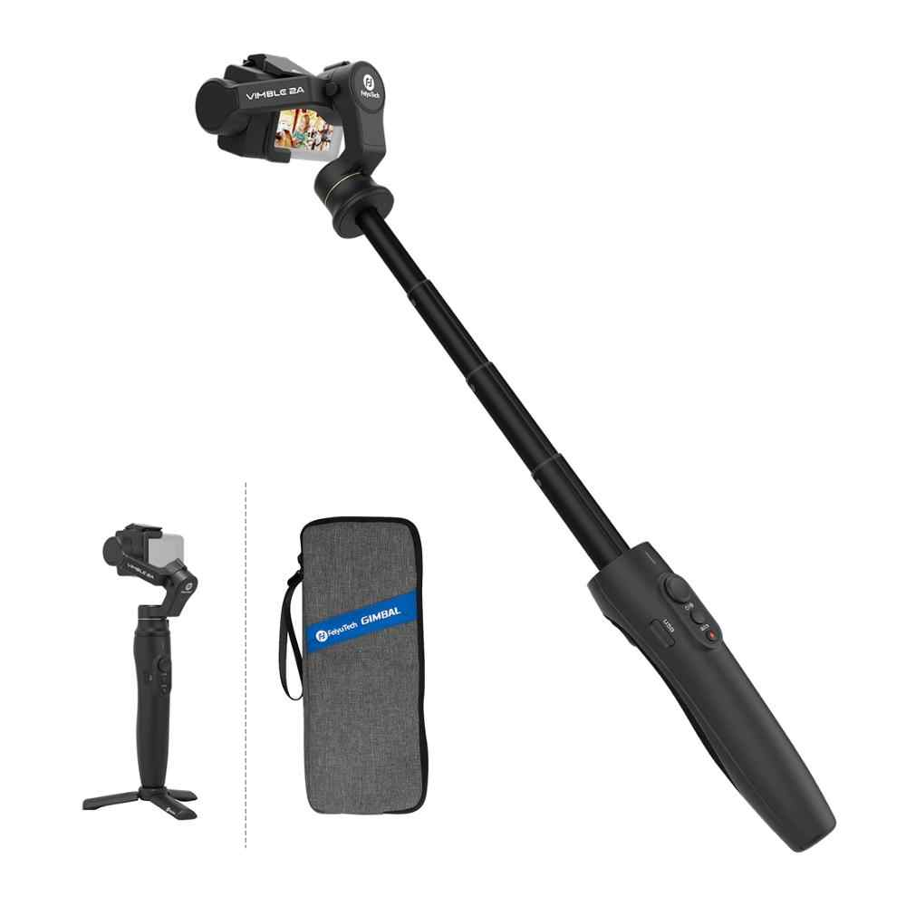 Feiyu Vimble 2A 拡張可能なアクションカメラジン移動プロヒーロー 7/6/5,18 センチメートル拡張可能なポールと三脚とキャリーバッグ