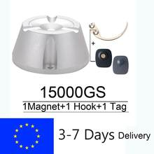 Eliminador de etiquetas con Sensor magnético, desprendedor de etiquetas de seguridad de 15000GS + 1 separador de llaves con gancho + 1 Etiqueta de alarma con Sensor