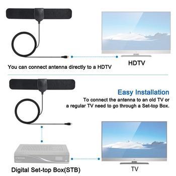 Kryty HDTV 25 Mile zasięg Antena TV cyfrowy HD 4K dla Antena cyfrowa Antena Tv cyfrowa obsługa 1080p Antena samochodowa Antena Tv K6J9 tanie i dobre opinie CUJMH CN (pochodzenie)