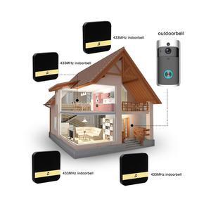 Image 4 - Smart IP wideodomofon bezprzewodowy dostęp do internetu wideo telefon drzwi dzwonek do drzwi wizjer wbudowaną kamerą WI FI do mieszkania IR alarmu bezprzewodowa kamera do monitoringu