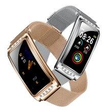 F28 femmes montre intelligente fréquence cardiaque pression artérielle oxygène femelle physiologique période rappel Fitness Bracelet cadeau pour dame fille