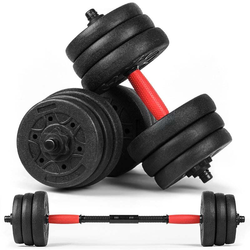 Environmentally friendly dumbbell home dumbbell men Freely detachable barbell Fitness Equipment with 30kg