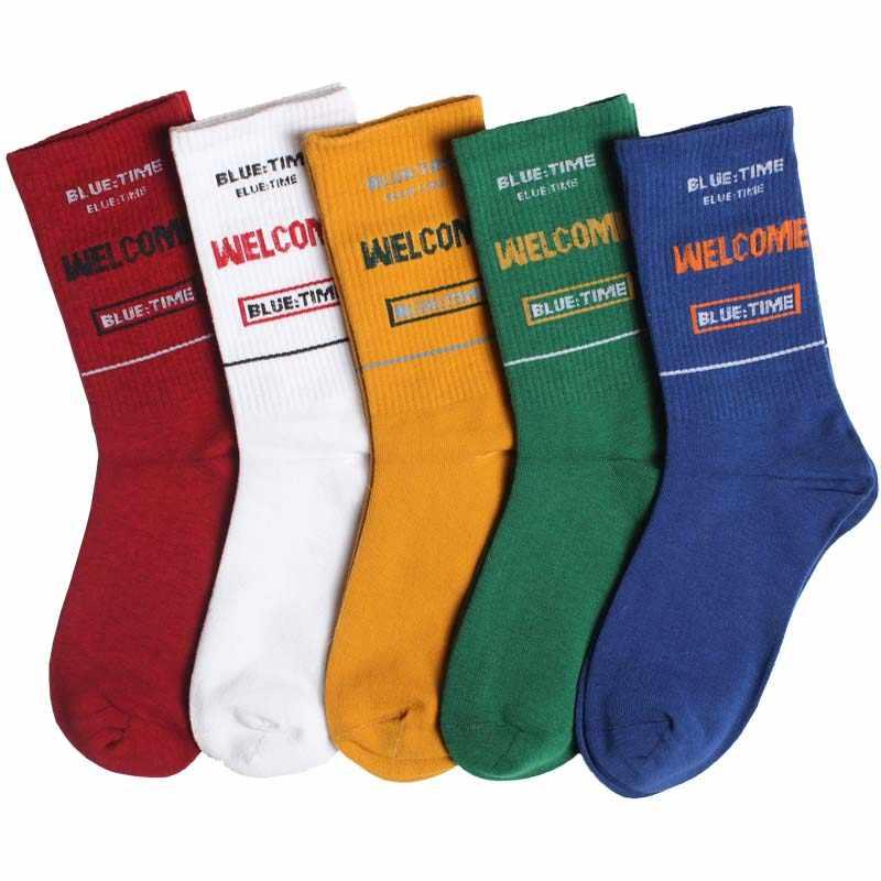 השפן מגמות גברים של אופנה שמח גרבי צבעים בהירים תפרים משובץ קריקטורה דפוס מצחיק גברים חיצוני מקרית גרביים