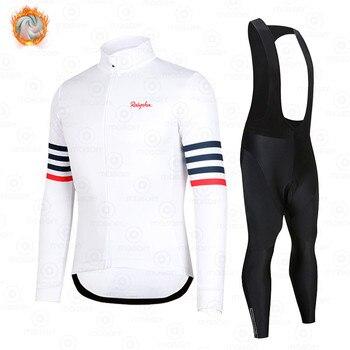 Raphaful-Conjunto de Ropa de Ciclismo para hombre, Jersey térmico y Polar de...