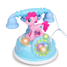 Retro Children's Phone Toy Phone Early Education Story Machine Baby Phone Emulated Telephone Toys For Children Musical Toys retro telephone style musical box toy coffee gold