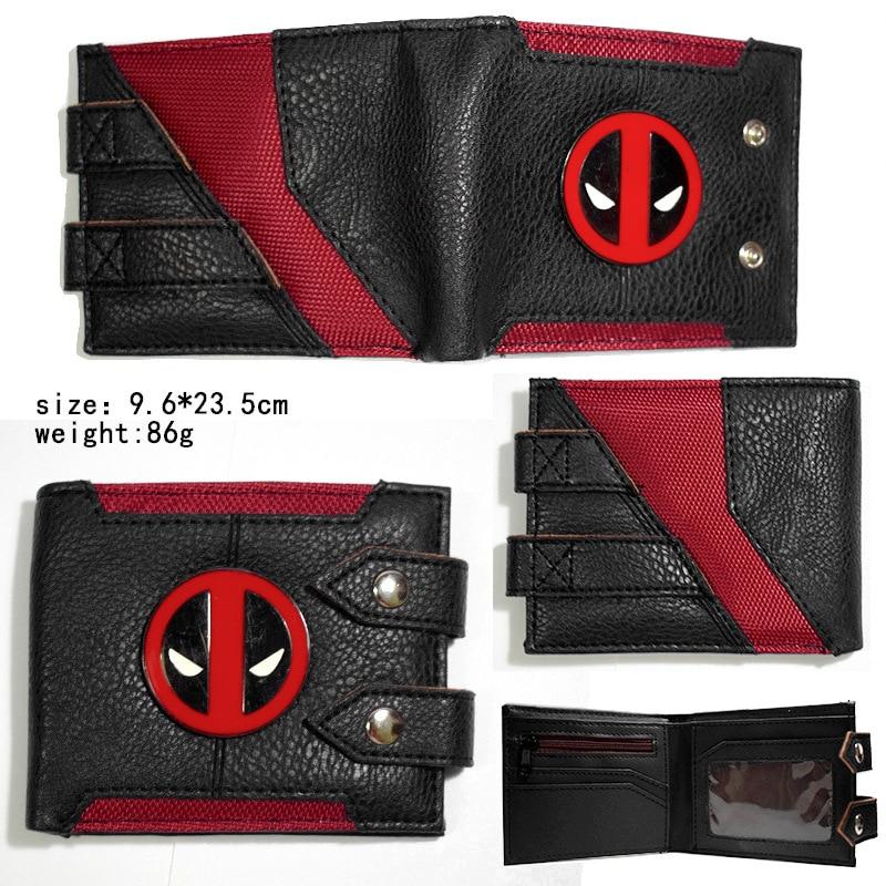 New Design Deadpool Cartoon Leather pu Short Wallet Men Coin Purse Handbags Gift