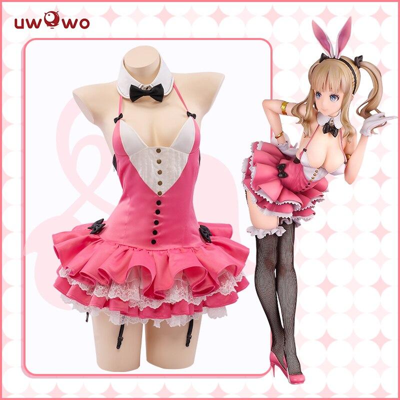 Uwowo Kuragawa Bunny Cosplay Kostüm Sexy Body Rosa Niedlichen Kaninchen Bindung Creators Sammlung Ver. Bunny Mädchen Kleid