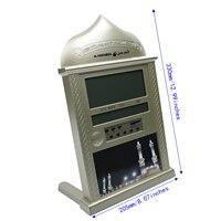 LCD Azan Adhan Clock Islamic Muslim Prayer Mosque Alarm Wall Table Time Clock Home Timer Prayer Clock