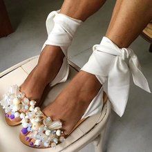 BLWBYL sandals flats shoes woman shiny crystal sexy bling cr