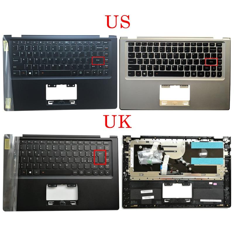 Nouveau Original pour Lenovo IdeaPad Yoga 2 13 Yoga2-13 ordinateur portable Palmrest étui supérieur AP138000610 argent noir