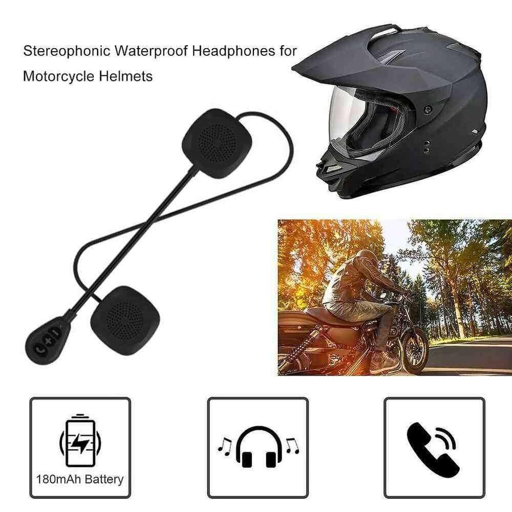 Гарнитура для мотоциклетного шлема, беспроводная, 5,0 MH05, для мотоциклетного шлема, динамик, наушники, громкая связь, вызов, стерео динамик, воспроизведение музыки
