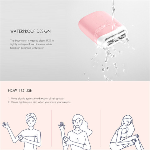 Original Xiaomi SMATE ST-L36 Electric Epilator Hair Removal Trimmer Women USB Rechargeable Mini Portable Smooth Shaver Epilator Islamabad