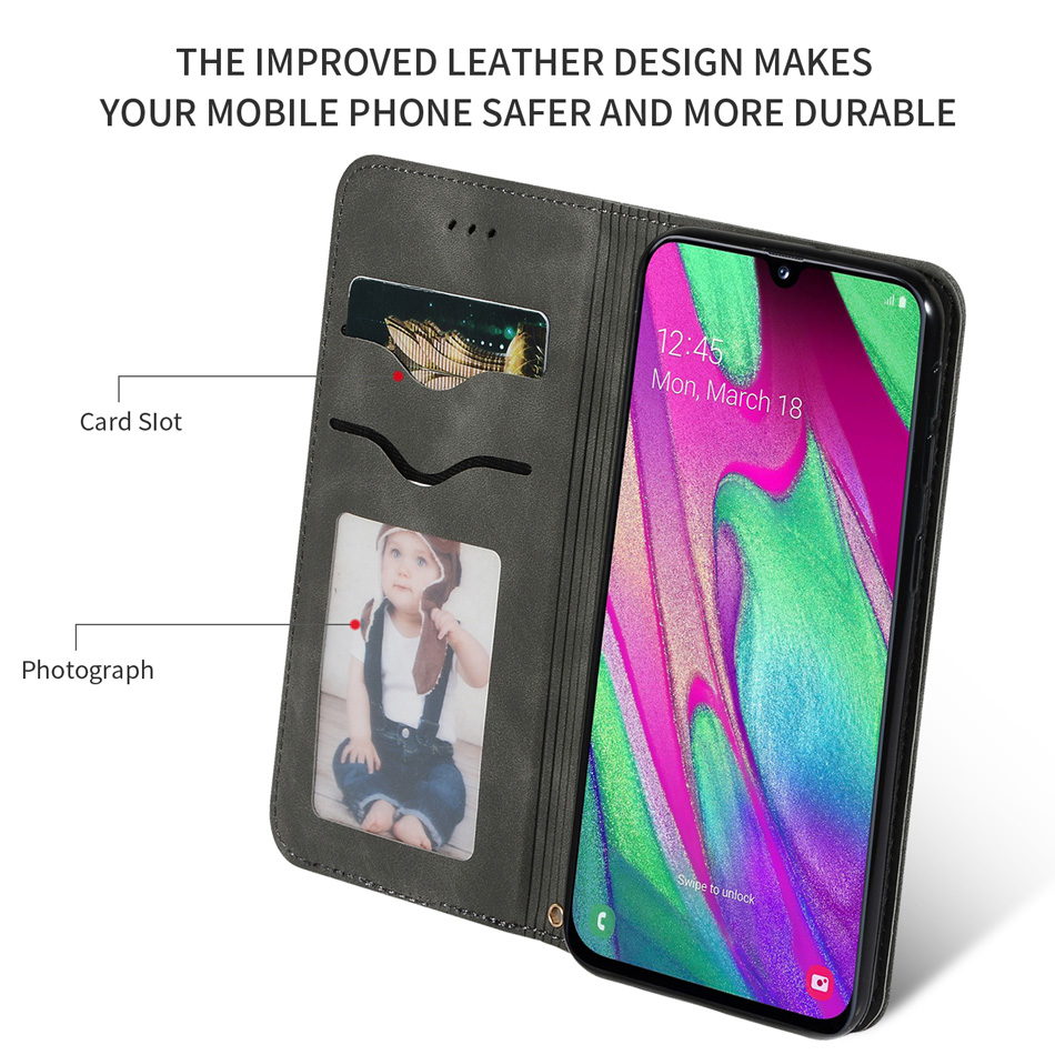 Touch Sensitive Wallet Case For Samsung Galaxy A70 A50 A40 A30 A20 A10 e A60 Note 10 Pro A40S Cover Flip Bag Book Leather Case in Wallet Cases from Cellphones Telecommunications