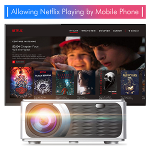 UNIC CP600 55W Full HD 1080P проектор 4K 8000 Люмен кинотеатр проектор для Android WiFi hdmi VGA AV USB порт