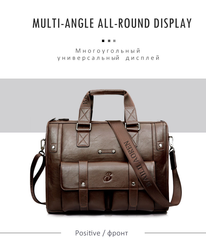 Hb4f6693b03304837a9eadc2b8a57a068a Men Leather Black Briefcase Business Handbag Messenger Bags Male Vintage Shoulder Bag Men's Large Laptop Travel Bags Hot XA177ZC