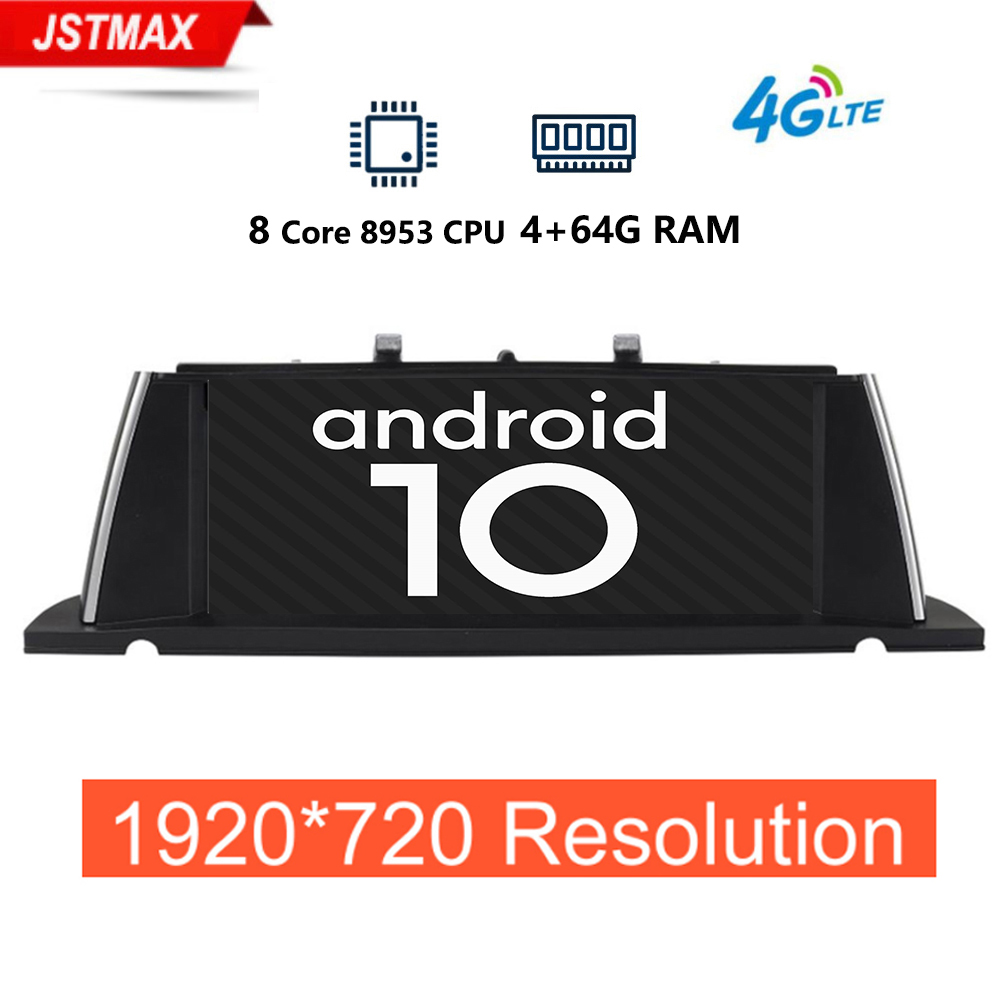 1920*720P 4+64G Android 10.0 Car GPS Navi For BMW F07 GT 11-17 CIC/NBT Multimedia Player BT 8 Core CPU IPS Touch 4G SIM WIFI PIP image