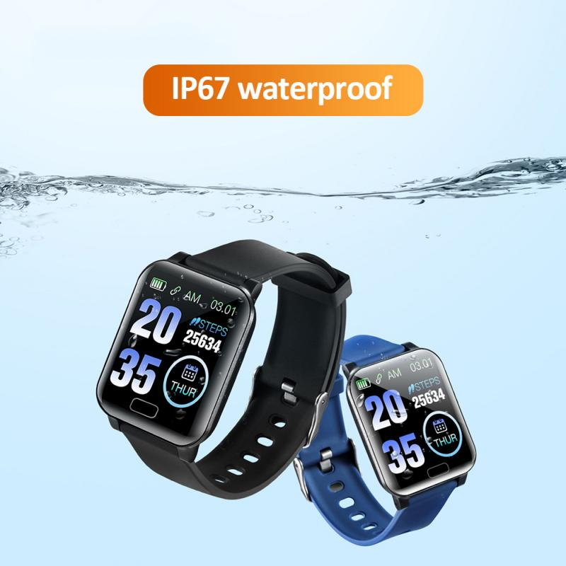 Smart-Bracelet Information Access-Control Square-Screen NFC Sports-Step-Heart-Rate Y12