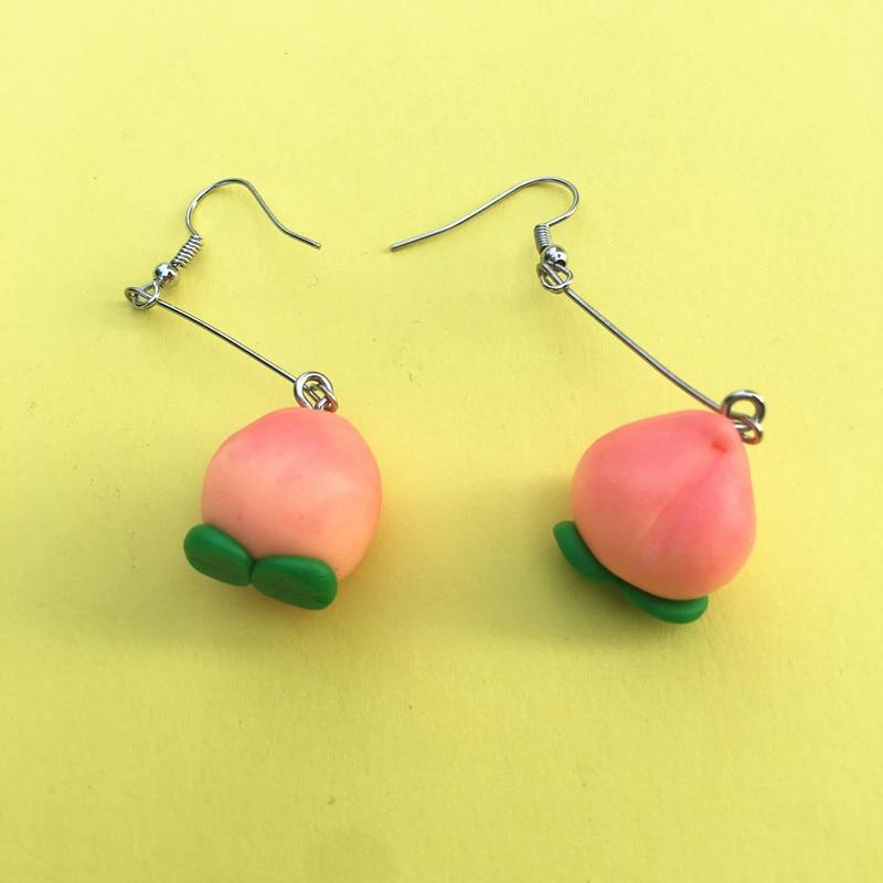 Peach Fruit Earrings 2