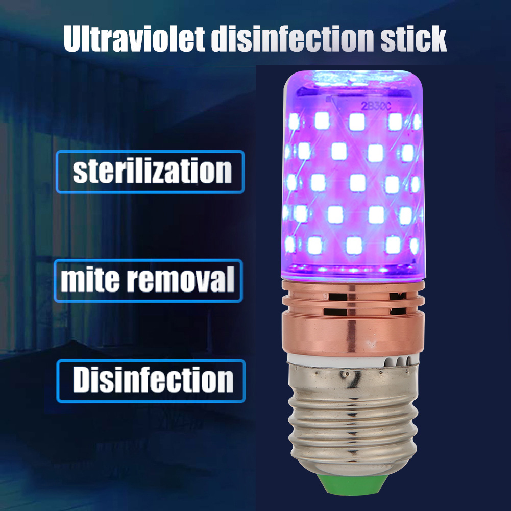 E27 UVC Sterilization Lamp 60 LED UV Germicidal Disinfection Light Bulb Ultraviolet Sterilizer Light Home Clean Air Kill Mites