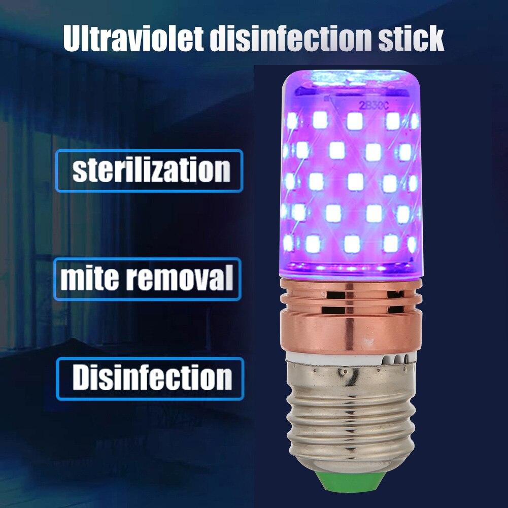 E27 UVC Sterilization Lamp 60 LED UV Germicidal Disinfection Light Bulb Ultraviolet Sterilizer Light Home Clean Air Kill Mites